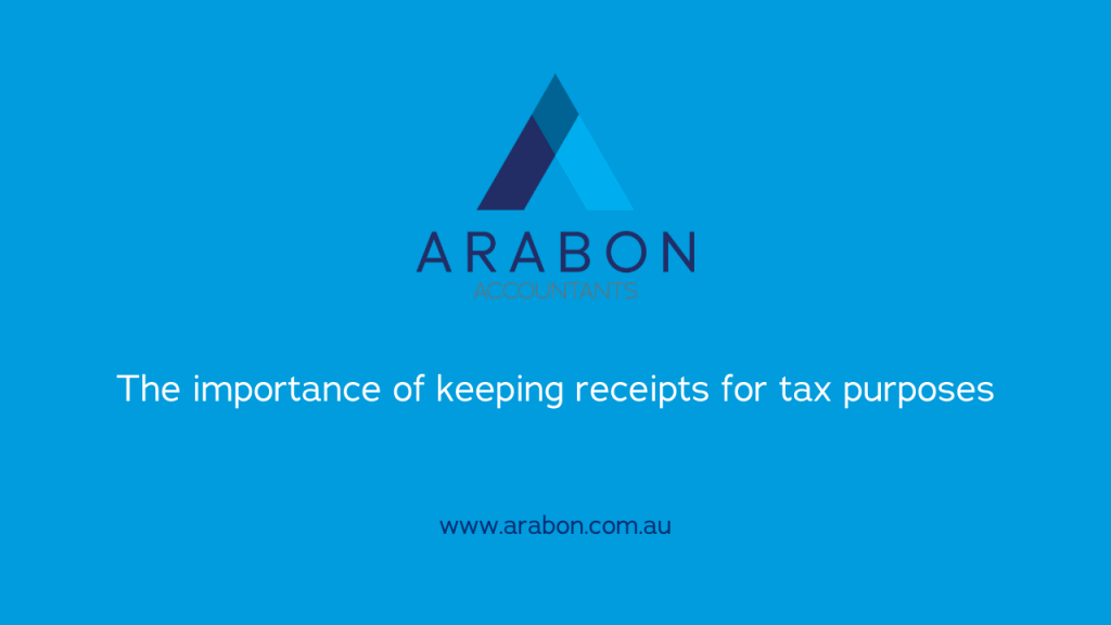 Arabon Accountants Importance of Keeping Receipts for Tax Purposes